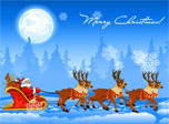 Christmas Sleigh Screensaver